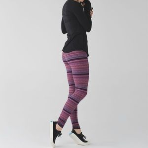 Lululemon Space Dye Twist Naval Blue Leggings